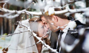 vinter brudepar