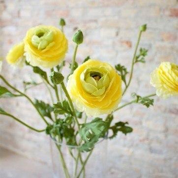 gul blomsterbuket
