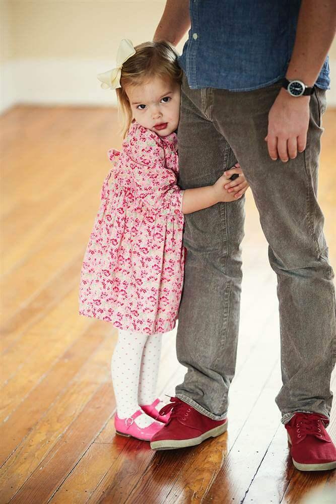 Far og datter danser