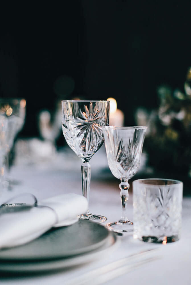 Bord-glas-minimalisme-bryllup