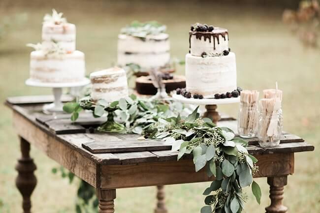rustikt bryllup