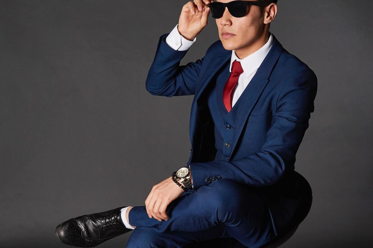 jakkesæt til brudgom mørkeblå